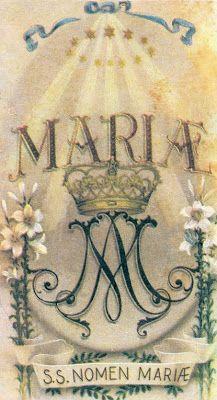 Spe Deus: DO MISTERIOSÍSSIMO, EFICACÍSSIMO, E DULCÍSSIMO NOME DE MARIA