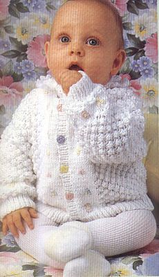 Кофточки спицами для новорожденных - Вяание для новорожденных - Последние схемы и модели для крючка и спиц - Вязание для души