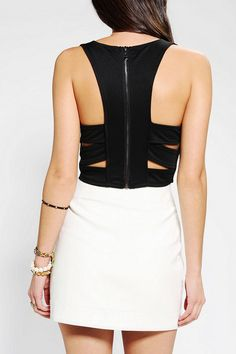 Silence & Noise Cutout Back Cropped Top #urbanoutfitters