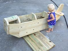 Checking out the Airplane Play Structure Under Construction