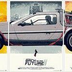 Posters da trilogia 'De Volta para o Futuro' que se completam