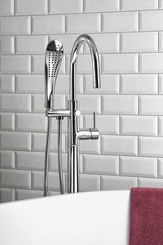 RHAPSODY vanová baterie s připojením do podlahy, výška chrom Water Faucet, Faucets, Sink, Bathtub, Design, Home Decor, Taps, Sink Tops, Standing Bath