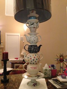 Closer View of DIY   alice-in-Wonderland Lamp
