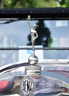 Benz 1916 DS2 - Hood Ornament & Badge  -  Prints available at:    http://kaye-menner.artistwebsites.com/featured/benz-1916-ds2--hood-ornament-and-badge-kaye-menner.html  -