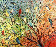 'Twenty Seven Birds' Jennifer Lommers Graphic Art Print
