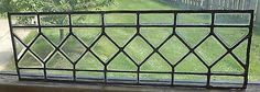Antique Vintage Stained Glass Window Beveled Panel  Leaded Transom Sidelight