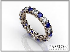 Pink 10 10 Blue Total Weight of stones Custom Jewelry, Blue Sapphire, Wedding Bride, Stones, Passion, Collections, Rings, Gold, Bride