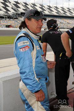 Brian Johnson of AC/DC appears during testing for Rolex Sports Car Series 'Rolex 24' at Daytona International Speedway. Daytona Beach, Florida - 07.01.12.