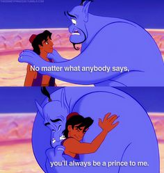 Aladdin (1992) So..I recently watched this again after a decade. I didn't realize how emotional I would be with this particular scene..