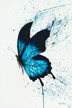 Butterfly Dreams Limited Edition Art Print By Ashvin Harrison Butterfly Drawing, Butterfly Painting, Butterfly Watercolor, Watercolor Paintings, Butterfly Artwork, Drawings Of Butterflies, Blue Butterfly Tattoo, Butterfly Wallpaper Iphone, Butterfly Illustration