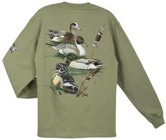 Al Agnew Duck Collage Back-Print Long Sleeve T-Shirt