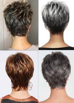 Thin Hair Short Haircuts, Short Fine Hair Cuts, Short Layered Curly Hair, Short Natural Curly Hair, Edgy Short Hair, Stacked Haircuts, Short Hairstyles Fine, Short Hair Older Women, Haircut For Thick Hair