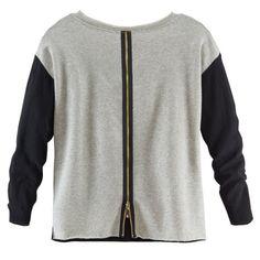 Sweatshirt, Materialmix, leger, lässig Vorderansicht