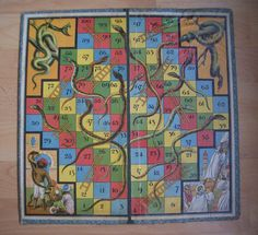 Chad Valley Snakes and Ladders board game, dating from around the 1930s/1940s period,