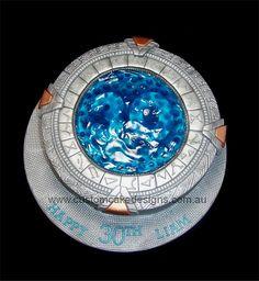 Stargate Portal Cake by CustomCakeDesigns