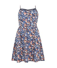 From picnics in the park to muddy festivals, this cute floral sundress is a great summer staple. Just swap ballet pumps for wellington boots! £12.99  #newlookfashion #floral #dress
