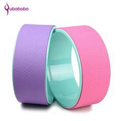 [QUBABOBO] ABS Yoga Circles Pilates Fitness Ejercicio Equipo de Entrenamiento Profesional Body Building Gym Deportes Yoga Rueda