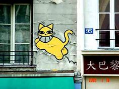 M. Chat (also known as Monsieur Chat and Mr Chat) is the name of a graffiti cat that appeared in Paris and other European cities in the months and years following the 9/11 terrorist attacks. The graffiti appeared most frequently on chimneys, but has been sighted in other places such as train platforms as well. It has also made appearances at political rallies. The originator of the street art remains anonymous.