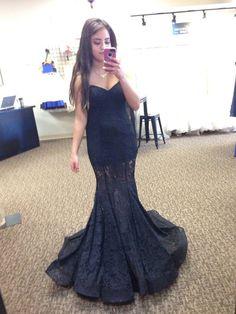 Modern Mermaid Sexy Black Lace Mermaid 2016 Prom Dress Sweetheart Sleeveless Sweep Train formal Gown For Teens