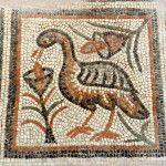 Bird and flowers. 6th century basilica. Byzantine Museum of Thessaloniki. www.helenmilesmosaics.org