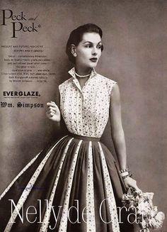 Nelly de Grab, 1955 Couture Allure Vintage Fashion