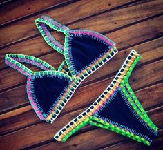 FREE SHIPPING 2 in 1 Bikini SET Reversible Custom by kalonshop