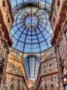 Restored Galleria Vittorio Emanuele II - Milan, italy.