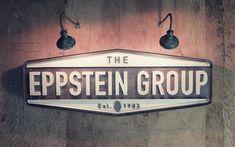 Eppstein Group, Typography, Logo, Lights, wood
