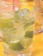 Caipirinha - Popular Brazilian drink. Had it for the first time this summer courtesy of my brother...DELISH and dangerous! ;)