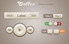 Coffee iPhone Retina App Controls : Image 1
