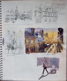 Why Having an Artist Sketchbook is Key to Better Art by Liz Haywood-Sullivan Travel Sketchbook, Arte Sketchbook, Watercolor Sketchbook, Watercolor Art, Illustration Sketches, Art Sketches, Art Drawings, Kunstjournal Inspiration, Sketchbook Inspiration