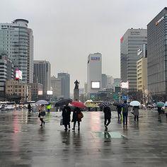 #Raining #Seoul #맞팔 #봄비 #비
