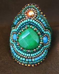 Faria Siddiqui Green Jade Ring