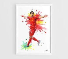 Luis Suarez Liverpool FC  A3 Art Prints of the by NazarArt on Etsy, $25.00