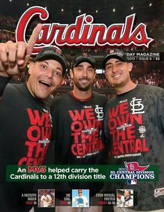 The Cardinals Magazine Cover featuring Yadier Molina, Matt Carpenter, & Allen Craig