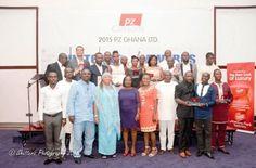 The award winners and staff members of PZ Cussons Ghana Ltd.