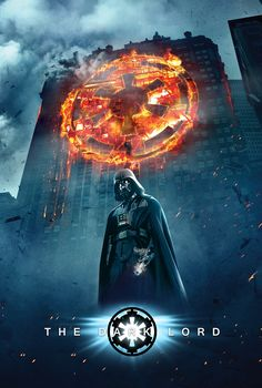 A tribute to the dark knights.  Darth Vader in the Dark Knight poster.