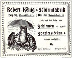 Original-Werbung/ Anzeige 1904 - SCHIRME / SCHIRMFABRIK KÖNIG - LEIPZIG / MOTIV FRÖSCHE -  ca. 110 x 80 mm