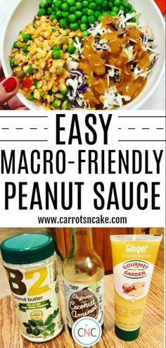 Easy Macro-Friendly Peanut Sauce – Carrots 'N' Cake Clean Eating Snacks, Healthy Eating, Real Food Recipes, Vegetarian Recipes, Healthy Recipes, Recipes With Macros, Advocare Recipes, Chicken Recipes, Cooking Recipes