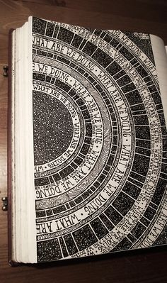 Art journal inspiration. This would be cool to do. Notebook, 054, Rebecca Blair