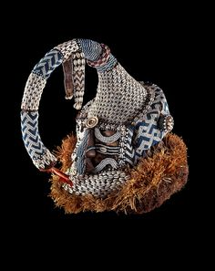 Kuba mask, DR Congo. The mukyèèm-Maske also named mwaash-a-mbooy-Mask, represents an elephant, and was worn by Kings during initiation ceremonies or funerals of high ranked society members.