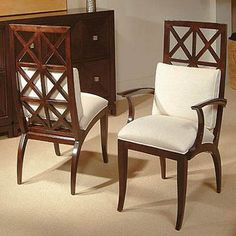 These beautiful windowpane side/arm chairs will make any dinning room special.