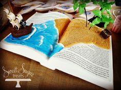 Pirate ship storybook cake