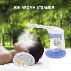 Pro 2 in 1 Desktop Facial Steamer Ozone Ion Sparyer Skin Spa Beauty Salon HOT Face Steamer, Cleanser, Moisturizer, Aromatherapy Humidifier, Face Spray, Essential Oils For Skin, Face Skin Care, Face Hair, Facial