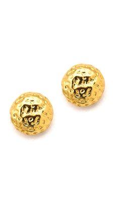 tiny hammered stud earrings / gorjana