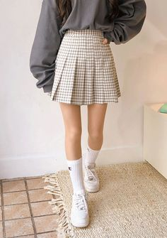 Suger Pop Tennis Skirt @ , the best in Korean and global fashion. Korean Girl Fashion, Ulzzang Fashion, Korean Street Fashion, Korean Fashion Trends, Japanese Fashion, Look Fashion, Korean Fashion School, Japanese Outfits, Indie Outfits