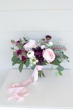 Silk Flower Keepsake Wedding Bouquet by Southern Girl Weddings Real Flowers, Silk Flowers, Wedding Bouquets, Wedding Flowers, Destination Wedding, Wedding Day, Cabbage Roses, Wedding Keepsakes, Pink Silk