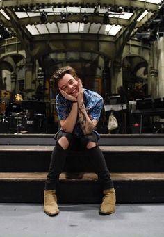 Harry in SNL studio 2017