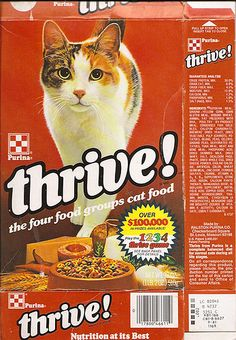 1980 Ralston Purina Thrive! Cat Food Box by gregg_koenig, via Flickr