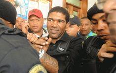 Omega acudió hoy la Corte de Apelación del Distrito Nacional en compañía de sus abogados con el propósito de obtener su libertad